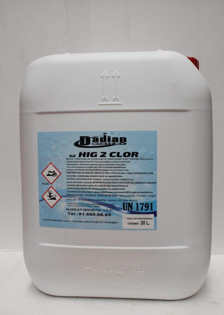 cloro activo lavanderia dadian higiene